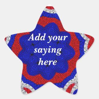 Red,White & Blue_ Star Sticker