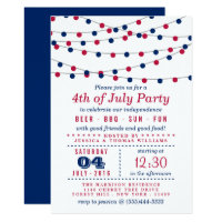 4th of July Party Invitations<