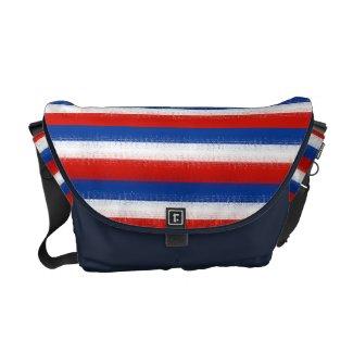 Red, White & Blue Striped: Messenger Bag rickshawmessengerbag