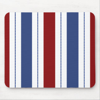 Red, White, Blue Striped Mouse Pad