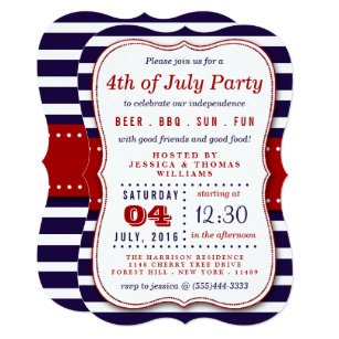 4th Of July Invitations 3200 Announcements Invites