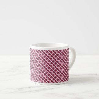Red, White & Blue Stripes Espresso Mug 6 Oz Ceramic Espresso Cup