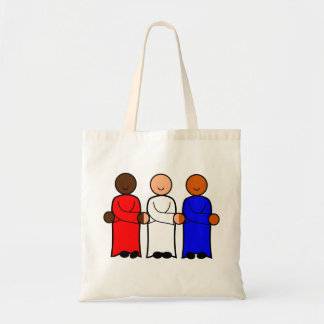red white blue symbol of unity tote bag