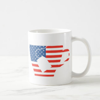 Red White & Blue Tea Cup