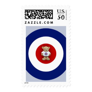 Red White & Blue Teddy Bear Postage