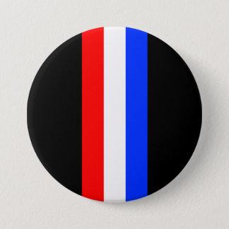 Red White Blue Tri Bar Metal Button