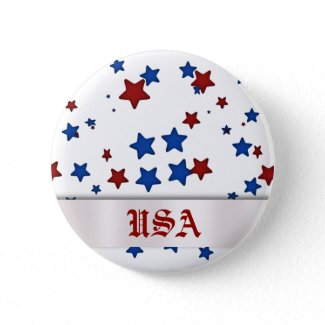 Red, White, & Blue USA Button button
