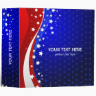 Red White & Blue - USA Flag Stars And Stripes 3 Ring Binder