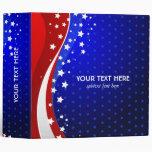 Red White & Blue - USA Flag Stars And Stripes 3 Ring Binder