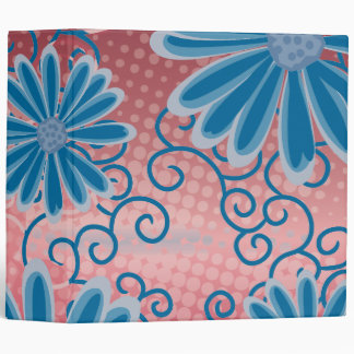 Red White Blue USA Floral Tribal Daisy Pattern Binders