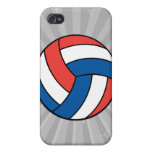 red white blue volleyball cover for iPhone 4