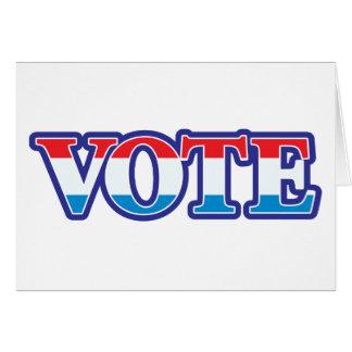 Red White & Blue Vote Card