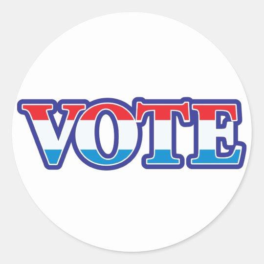 Red White & Blue Vote Classic Round Sticker