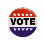 Red White & Blue Vote Design Postcard