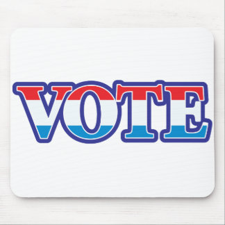 Red White & Blue Vote Mouse Pad