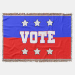 Red, White & Blue VOTE with Stars Throw Blanket
