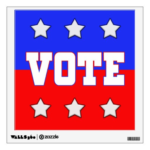 Red, White & Blue VOTE with Stars Wall Decor