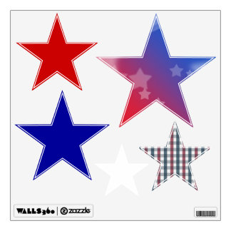 Red, White & Blue Room Decals