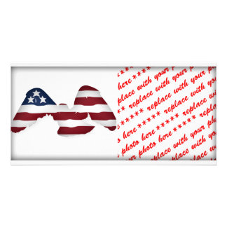 Red White & Blue Winged American Flag Card