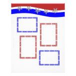 Red White & Blue with Frames & Stars Letterhead