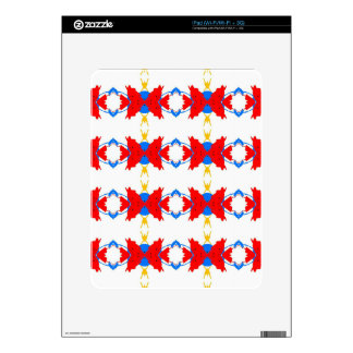Red White Blue Yellow Boys Tribal Pattern iPad Decals