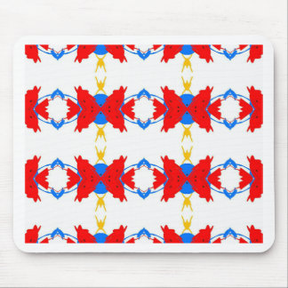 Red White Blue Yellow Boys Tribal Pattern Mouse Pad