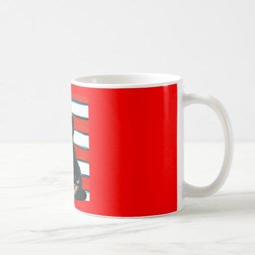 Red,White & Blue Yorkie Poo Classic White Coffee Mug