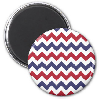 Red White Blue Zigzag Refrigerator Magnets
