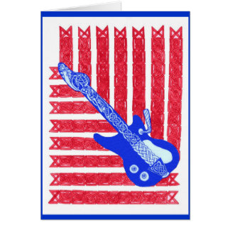 Red, White & Blues Card