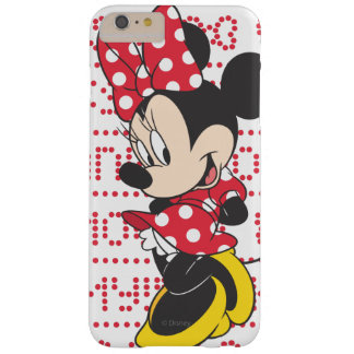 Red & White Bow Minnie Barely There iPhone 6 Plus Case
