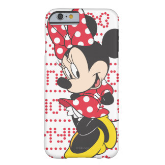 Red & White Bow Minnie Barely There iPhone 6 Case