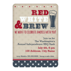Red, White & Brew Invitation