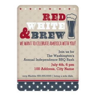 Red, White & Brew Invitation