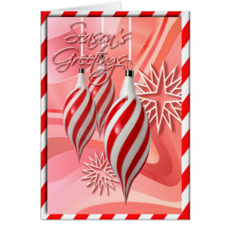RED & WHITE CANDY STRIPES  by SHARON SHARPE Card