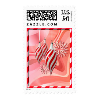 RED & WHITE CANDY STRIPES by SHARON SHARPE Postage