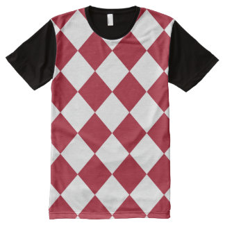Red white checkerboard pattern All-Over-Print shirt