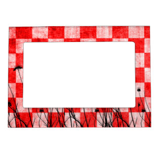 Red & White Checkers Magnetic Frame