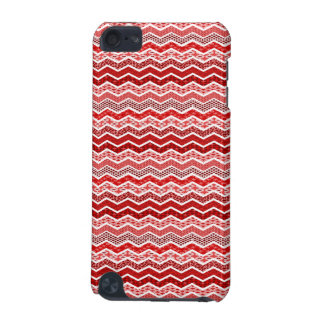 Red White Chevron Geometric Designs Color iPod Touch 5G Covers