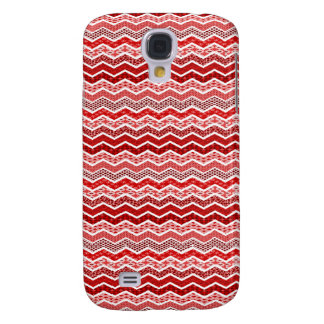 Red White Chevron Geometric Designs Color Samsung S4 Case
