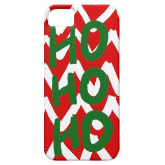 Red White Chevron Ho Ho Ho Christmas Pattern iPhone 5 Covers