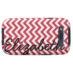 Red White Chevron Pattern Samsung Galaxy SIII Cover