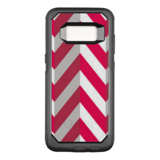 Red White Chevron Pattern Design OtterBox Commuter Samsung Galaxy S8 Case