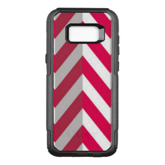 Red White Chevron Pattern Design OtterBox Commuter Samsung Galaxy S8+ Case