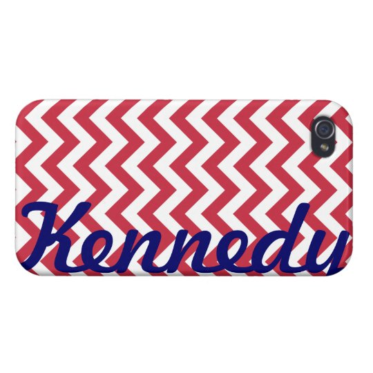 Red White Chevron Pattern iPhone 4/4S Cover