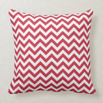 Red White Chevron Pattern Pillows