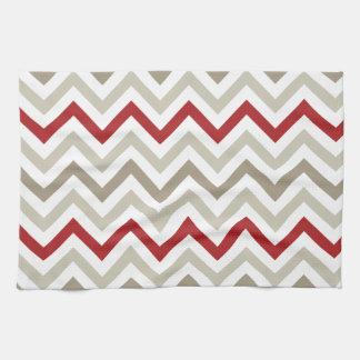 Red White Chevron Pattern Towel