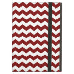 red  white chevrons iPad cover