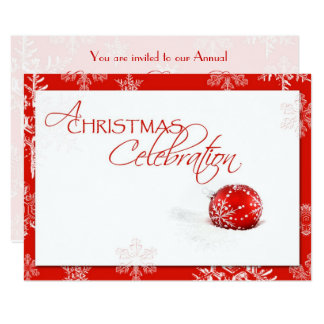 Red White Christmas Celebration RSVP Card