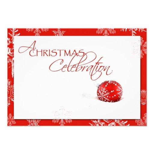 Red White Christmas Celebration RSVP Card