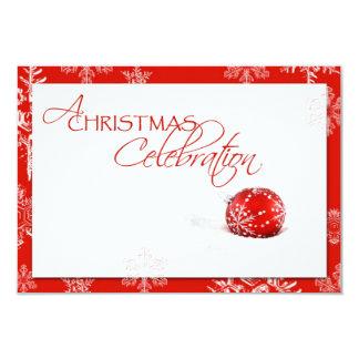 "Red White Christmas Celebration RSVP Card 3.5"" X 5"" Invitation Card"